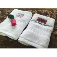 Wholesale Durable Hotel Towel Set , 100% Cotton And Embroidery Hotel Face Towel With Satin Stripe from china suppliers