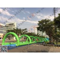 Wholesale 200m Inflatable Adult Water Slide / Giant Slip N Slide with Air Blower from china suppliers