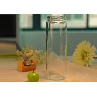 Quality Light borosilicate thermal insulation double wall glass bottle for drinking , for sale