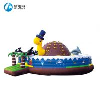 Wholesale Lightweight Commercial Inflatable Castle Bouncer Happy Turtle Bounce With Climb from china suppliers