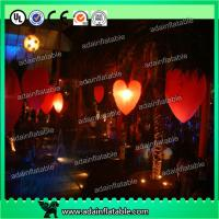 Wholesale Hanging Lighting Inflatable Heart For Club Event/Party/Stage/ Decoration from china suppliers