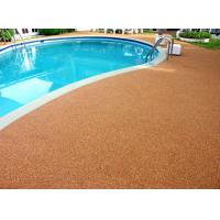 Wholesale Shock Proof Pool Rubber Flooring , Abrasive Resistant Swimming Pool Flooring Materials from china suppliers
