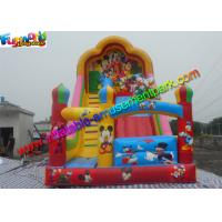 Quality Popular Mickey Mouse Commercial Inflatable Slide , Blow up Slide 7L x 4W x 6H for sale