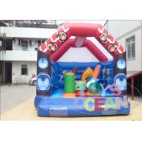 Wholesale White Giant Bouncy Castles Waterproof /  Sports Combo Bounce House With Roof from china suppliers
