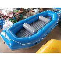 Wholesale Blue River Rafting Boat With Inflatable Floor / Raft Inflatable Boat from china suppliers