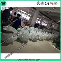 Wholesale Hot Sale 10m Wedding Event Decoration White Inflatable Rose Flower Chain With LED Light from china suppliers