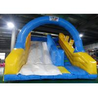 Wholesale Blue Sky Color Inflatable Dry or Wet Slide with Arch Door&Stairs from china suppliers