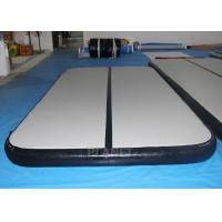 Wholesale Custom Inflatable Air Track Double Wall Fabric Material Black Sides from china suppliers