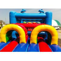Quality 14 M Long Inflatable Tunnel Outdoor Obstacle Course Equipment Electric Blower for sale