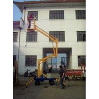 China Mobile Hydraulic Boom Lift Crank Arm Electric Work Platform With Wheels on sale