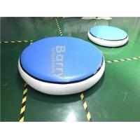 Wholesale Round Blue Inflatable Air Track Gymnastics Mat DWF + 1.2mm Plato Material from china suppliers