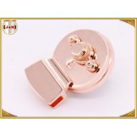 Wholesale Round Shape Metal Box Lock / Clasp Lock High Polishing 48mm X 37.2mm Size from china suppliers