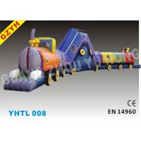 Wholesale 0.55mm PVC Waterproof Train Inflatable Sports Tunnel YHTL-008 in 18*3*3m from china suppliers