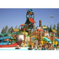 Wholesale Water House Theme Park Construction Platform 21*18*9m Family Fun Water Slide from china suppliers