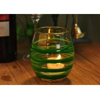 Wholesale Round Decorative Glassware Bowls Mouth Blown Candle Holder For Home from china suppliers