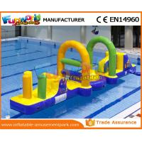Wholesale 0.55 MM PVC Tarpaulin Inflatable Water Toys / Inflatable Obstacle Course For Water Park from china suppliers