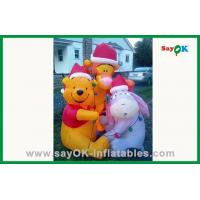 Wholesale Custom Yellow 210D Oxford Cloth Inflatable Bear Inflatable Cartoon Characters For Advertising from china suppliers