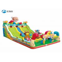 China New Tiger cartoon inflatable slide bouncer trampoline for children on sale