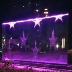 Customize Diameter 6M Water Writing Fountain , Aqua Graphic Water CurtainWall