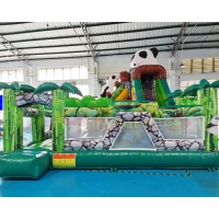 Wholesale 1000D Panda Inflatable Bounce House Combo For Hotel from china suppliers