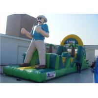 Buy cheap Cartoon Obstacle Course Inflatable Sports Games With Tunnel N Climbing Wall from wholesalers