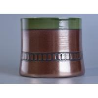 Wholesale Decoration Ceramic Candle Holder Home Decor Taper Glazing Ceramic Candle Jar from china suppliers