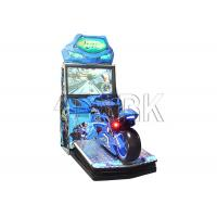 Electronic Coin Operated Motorcycle Car Racing Game Machine 250W