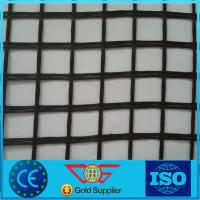 Wholesale Self-Adhesive Fiberglass Geogrid from 25Kn-400Kn With Roll Width 3.95m and CE Certificate from china suppliers