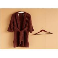 Wholesale Hotel Kimono Collar Bathrobes Towel Soft Coral Velvet Dark Red Color from china suppliers