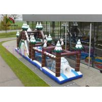 Wholesale 0.55mm PVC Ice And Snow World Inflatable Sports Games / Amazing Design Obstacle Course from china suppliers