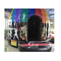 Wholesale Kids N adults inflatable music disco dome bouncy castle with light hooks on top for outdoor N indoor parties from china suppliers