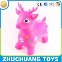 Wholesale colorful plastic cartoon deer zoo animal toys for kids from china suppliers