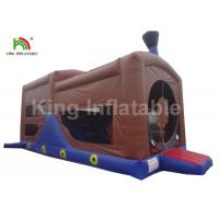China Children Inflatable Jumping Castle , 0.55mm PVC Commercial Inflatable Trampolines on sale