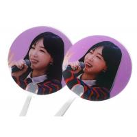 Wholesale Personalized 3D Lenticular Clear Transparent Paper Hand Fan With Plastic Handle from china suppliers