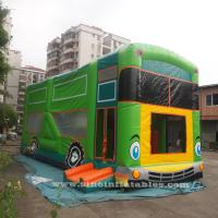 Wholesale Commercial grade giant bus inflatable bouncer with slide N pillars inside for kids fun entertainments from china suppliers