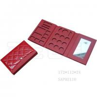 Wholesale Red Professional Portable Makeup Mirror PU Leather For Women from china suppliers