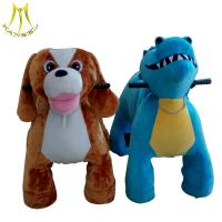 Quality Hansel new designs battery animal scooter in mall plush drivable electric animal toys for sale