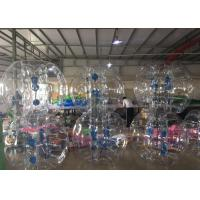 Wholesale Heat Seal Human Soccer Ball Bubble , Soccer Bouncy Balls With Reinforced Straps from china suppliers