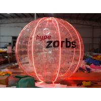 China Red Shinning 1.0MM PVC / TPU Inflatable Bubble Ball With LED Light N Logo on sale