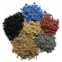 Wholesale Anti Slippery Artificial Turf Rubber Granules / Soft EPDM Granules Flooring from china suppliers