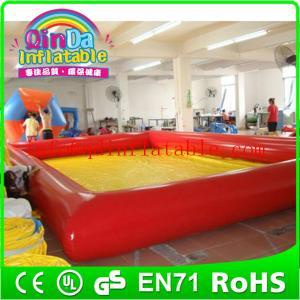 Wholesale QinDa Inflatable 0.9 mm pvc tarpaulin inflatable pool large inflatable swimming pool from china suppliers