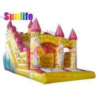 Wholesale inflatable castle clown fantasic slide from china suppliers