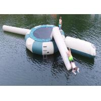 Wholesale Square Trampoline Combo With Slide Inflatable Water Sports Games With High Quality from china suppliers