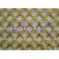 Wholesale Malleable U Track Metal Ring Curtain , Modern Styles Bronze Chainmail Curtain from china suppliers