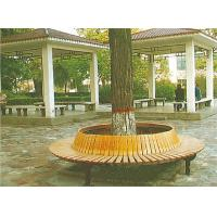 China Arc-shaped Commercial Park Bench with Natural Wood Texture Coated HA-14706 on sale