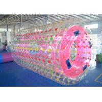 Wholesale Pink Inflatable Water Roller 2.4m*2.2m*1.6m , Inflatable Water Toys For Lake from china suppliers