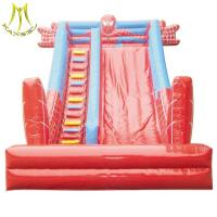 Quality Hansel fair atractions water park kids play center inflatable slide for sale for sale