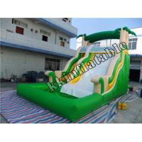 Wholesale Jungle Theme Green Huge Inflatable Pool Slide with Plato 0.55mm PVC Tarpaulin from china suppliers
