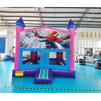 Wholesale EN14960 Super Hero Inflatable Castle Bounce House For Advertisement from china suppliers