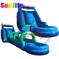 Wholesale inflatable quality water pool slip and slide from china suppliers